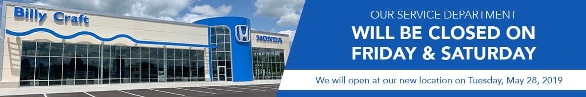 Honda Closed Service Banner_1200x199