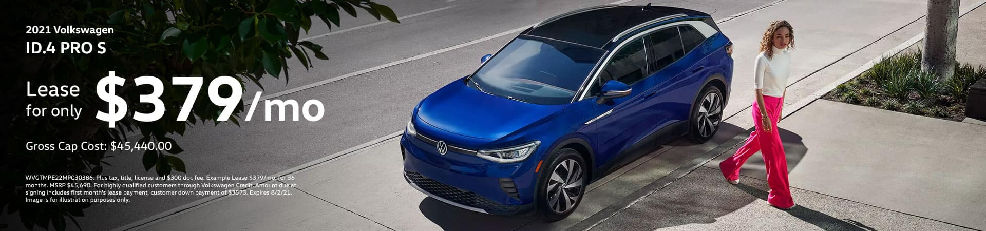 2021 ID.4 PRO S Lease for only $379/month
