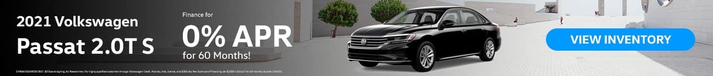 2021 Volkswagen Passat 2.0T S. Finance For 0% for 60 Months!
