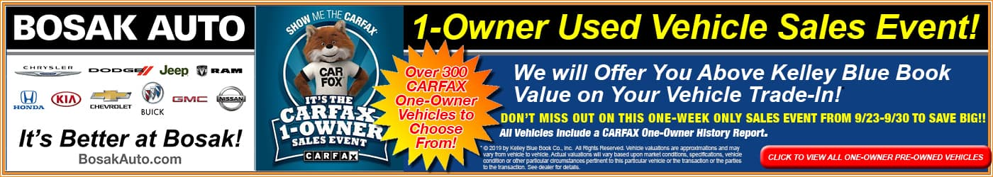 Carfax Event at Bosak Auto Group