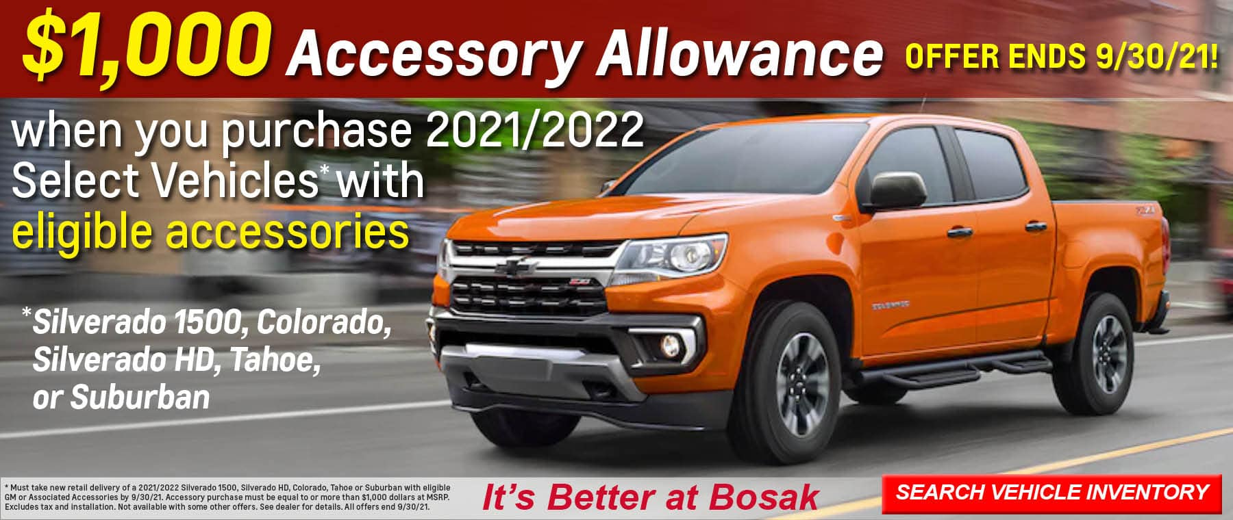 SEPT CHEVY BANNER 5 – ACCESSORY DEAL