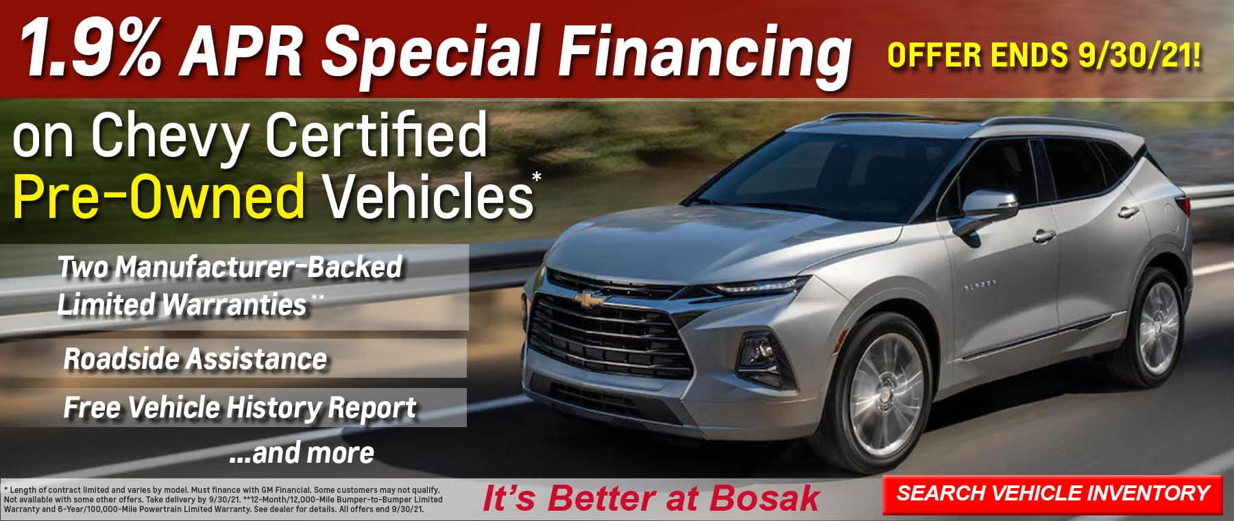 SEPT CHEVY BANNER 6 – SPECIAL APR FINANCING