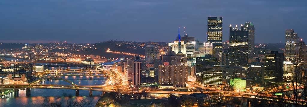 Pittsburgh nighttime panorama