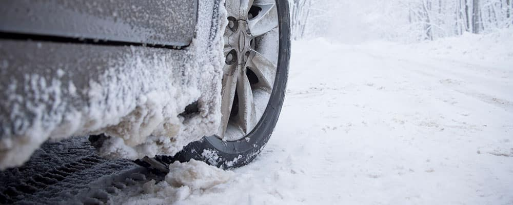 Winter tire driving in slush