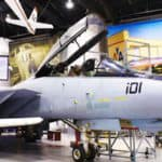 F14 Tomcat airplane at Tulsa Air and Space Museum