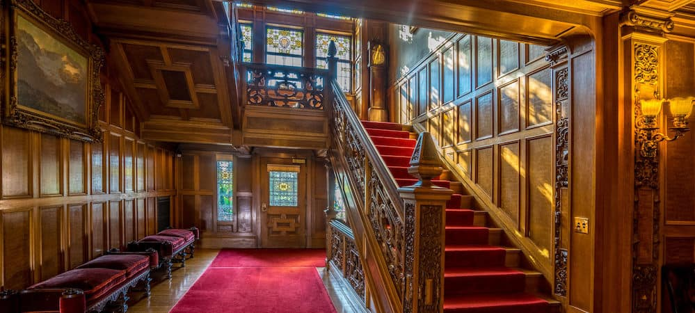 Main hallway at Glensheen Historic Congdon Estate