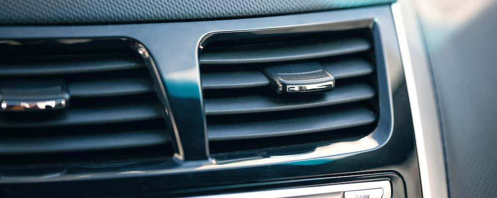 Close-up of a car air vent