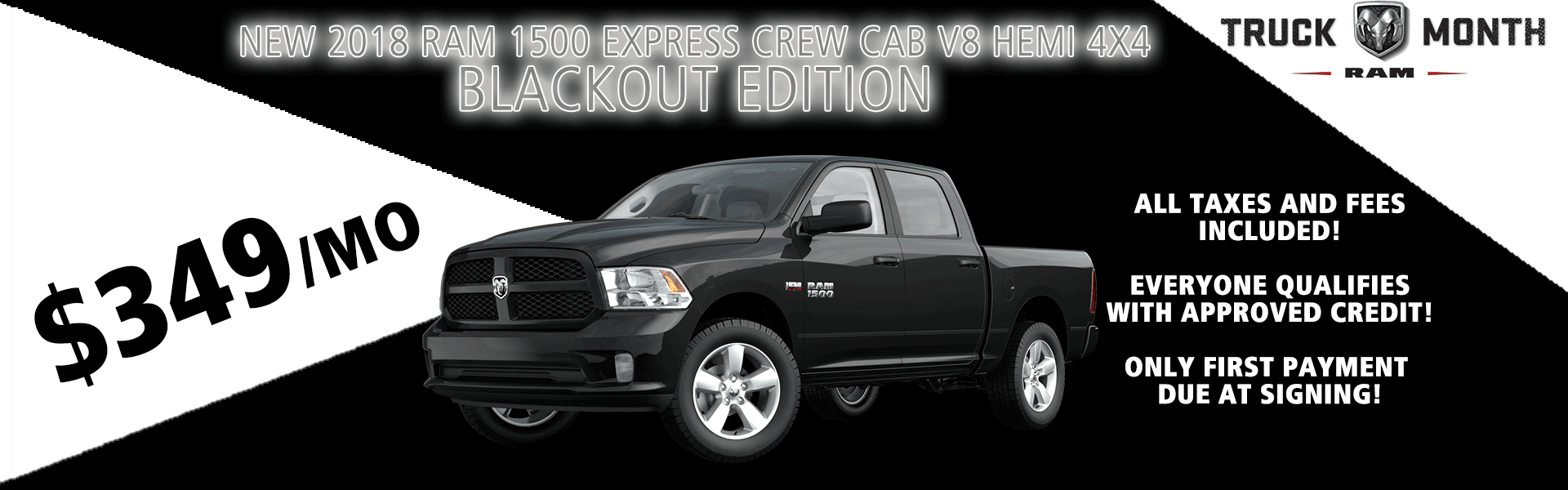 NEW 2018 RAM 1500 EXPRESS CREW CAB V8 HEMI 4X4 BLACKOUT EDITION carright auto moon township pittsburgh