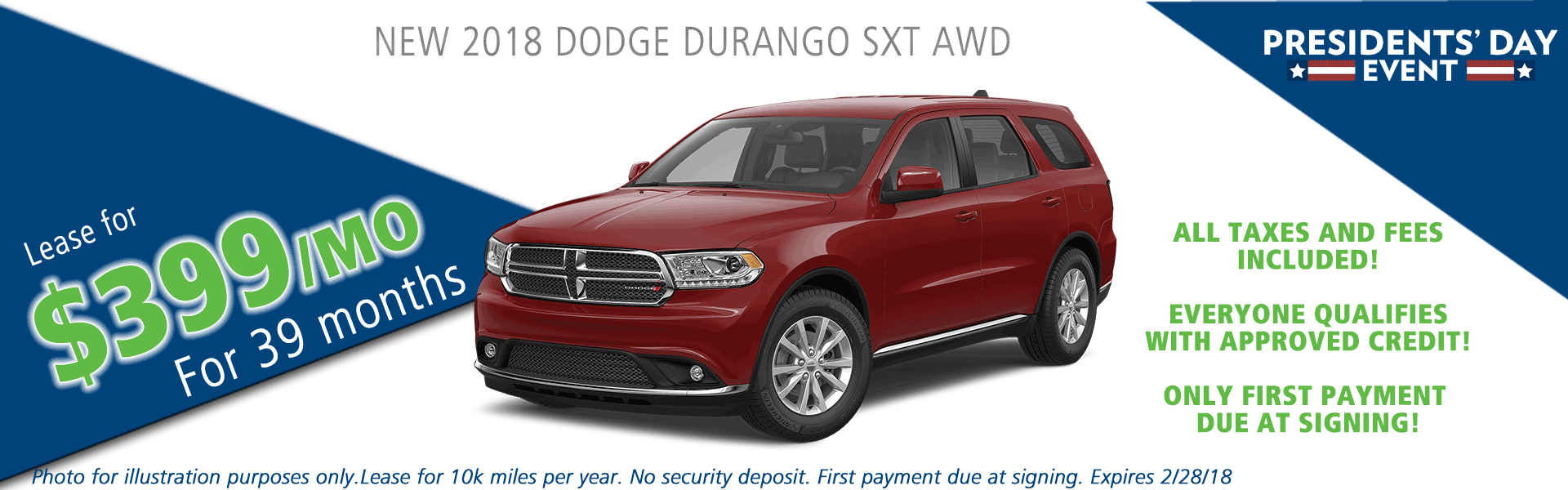 2018 dodge durango sxt awd carright auto moon twp vehicle specials and sales