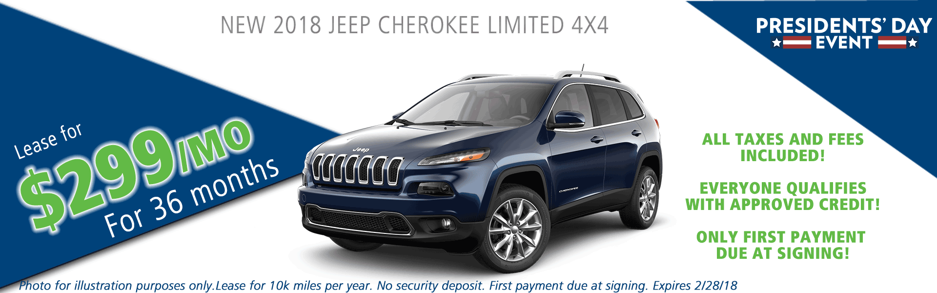 2018 Jeep cherokee limited 4x4 carright auto moon twp vehicle specials and sales