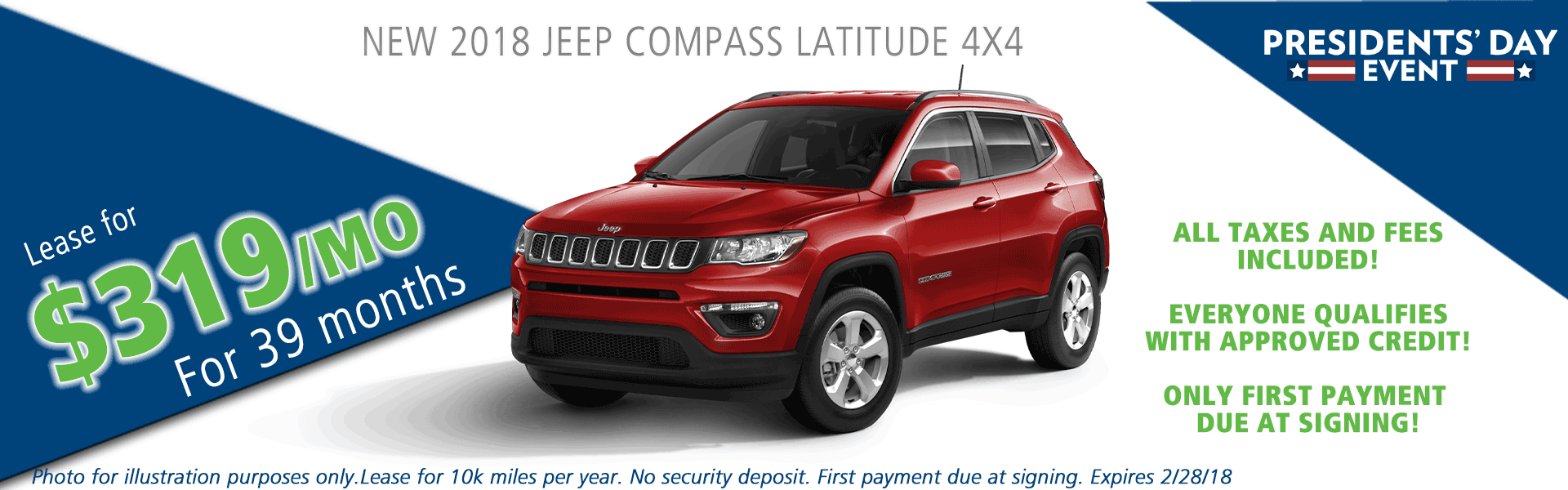 2018 jeep compass latitude 4x4 carright auto moon twp vehicle specials and sales