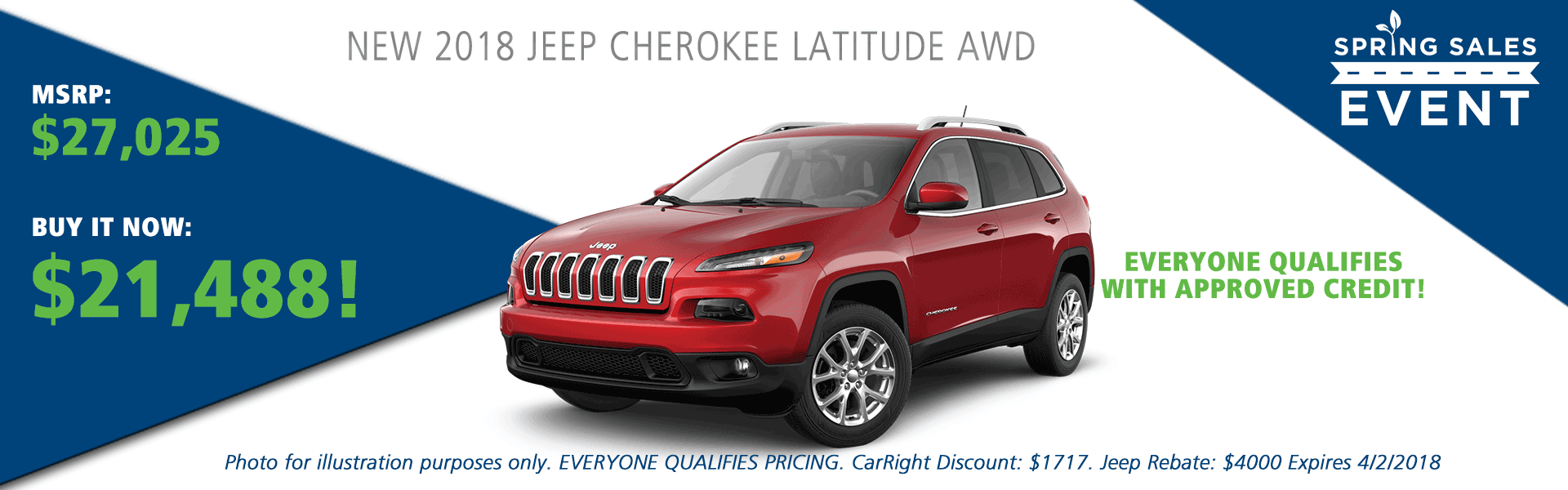 2018 jeep cherokee latitude awd carright auto moon township pittsburgh