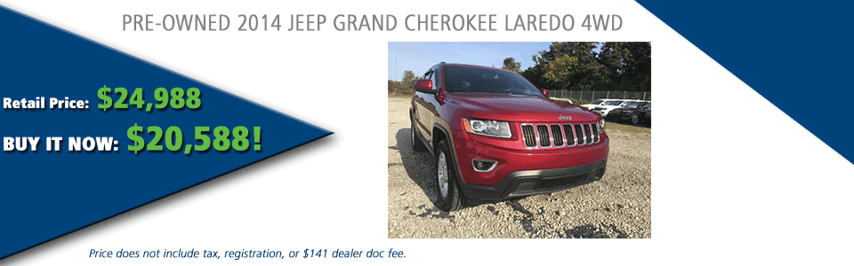 PRE-OWNED 2014 JEEP GRAND CHEROKEE LAREDO 4WD carright automotive serving moon township, north hills, south hills, pittsburgh