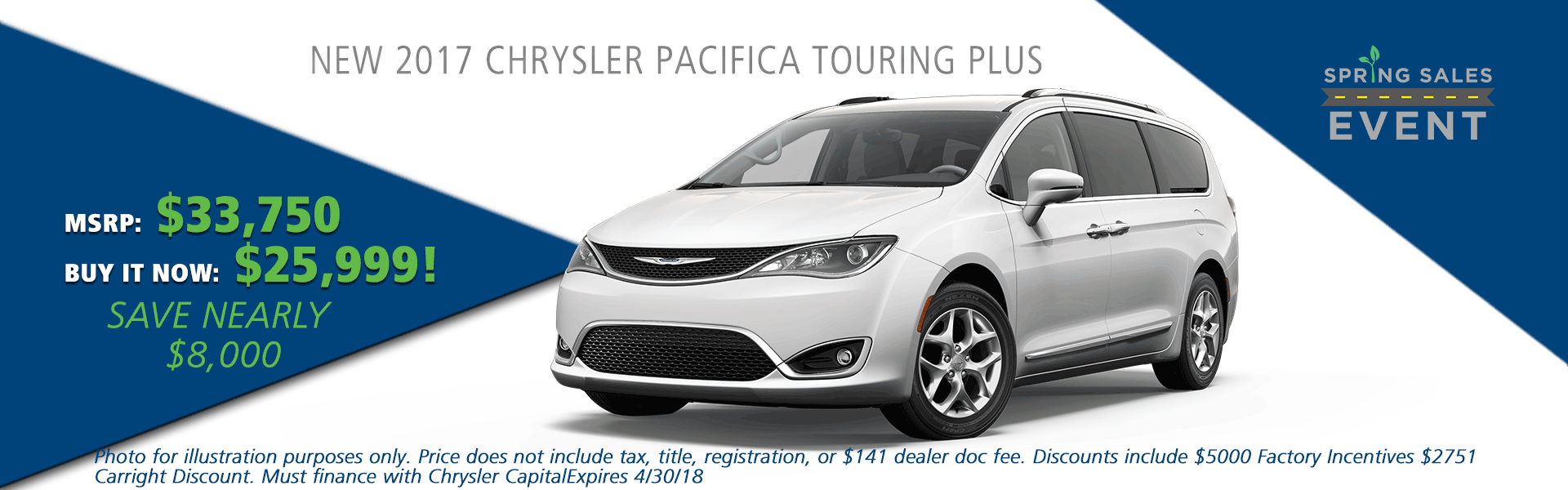 NEW 2017 CHRYSLER PACIFICA TOURING PLUS carright auto 5408 university blvd moon, pa 15108 chrysler dodge jeep ram