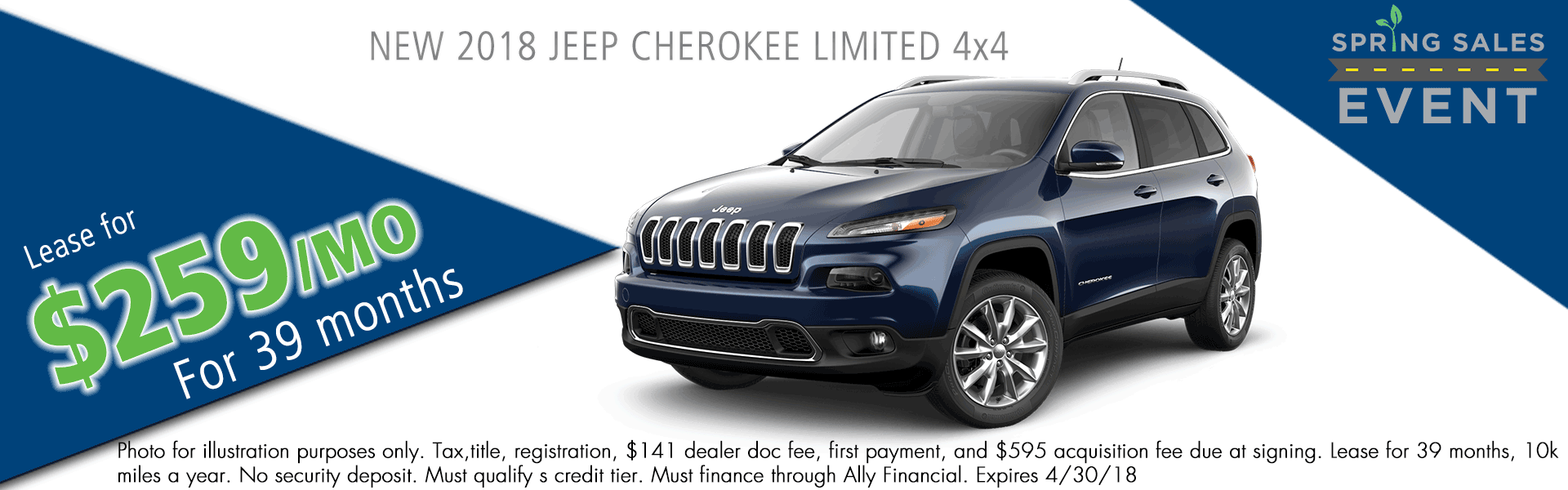 NEW 2018 JEEP CHEROKEE LIMITED 4X4 carright auto 5408 university blvd moon, pa 15108 chrysler dodge jeep ram
