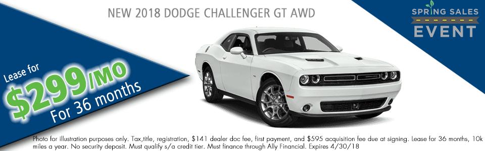 NEW 2018 DODGE CHALLENGER GT ALL-WHEEL DRIVEcarright auto 5408 university blvd moon, pa 15108 chrysler dodge jeep ram