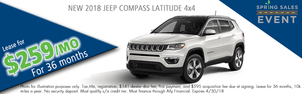 NEW 2018 JEEP COMPASS LATITUDE 4X4 carright auto 5408 university blvd moon, pa 15108 chrysler dodge jeep ram