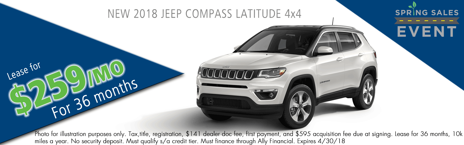NEW 2018 JEEP COMPASS LATITUDE 4X4 carright auto 5408 university blvd moon, pa 15108 chrysler dodge jeep ram