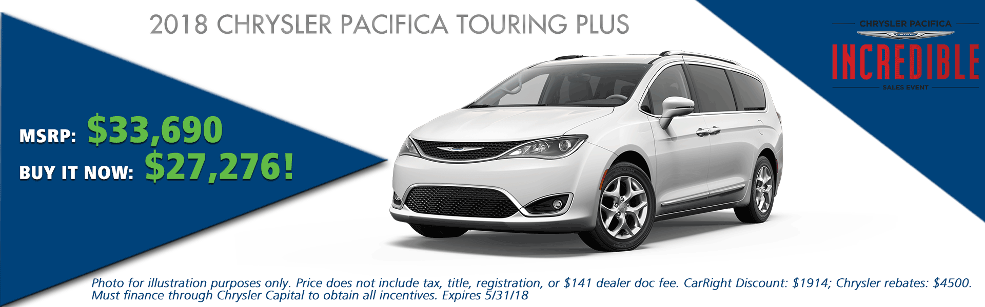 NEW 2018 CHRYSLER PACIFICA TOURING PLUS CarRight Chrysler Jeep Dodge Ram Fuso moon, pittsburgh, sewickley, pennsylvania.