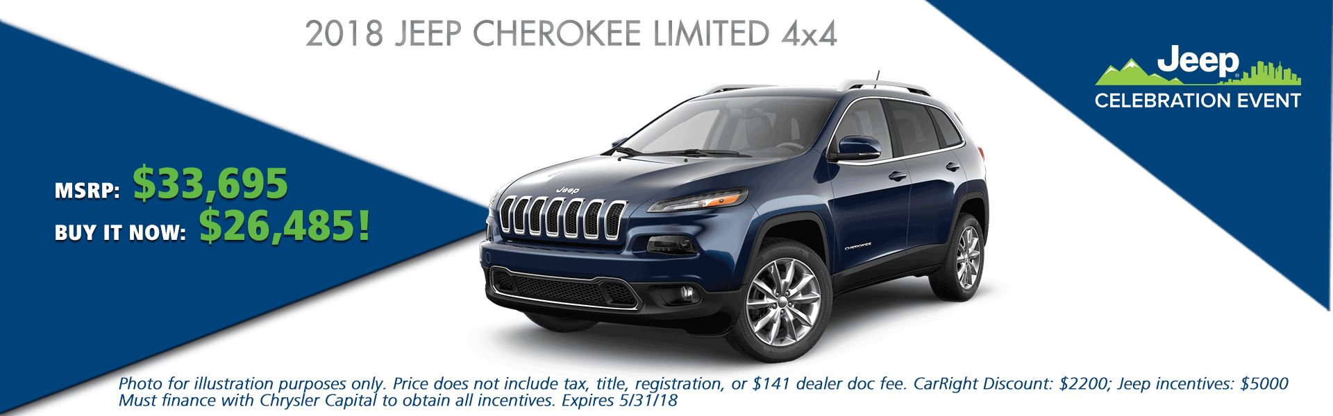 NEW 2018 JEEP CHEROKEE LIMITED 4X4 CarRight Chrysler Jeep Dodge Ram Fuso moon, pittsburgh, sewickley, pennsylvania.