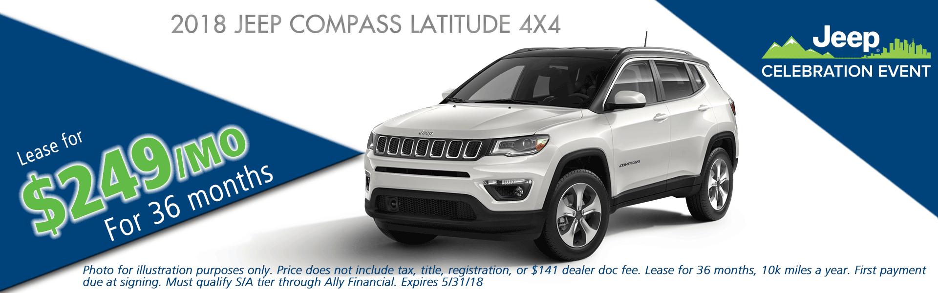 NEW 2018 JEEP COMPASS LATITUDE 4X4 CarRight Chrysler Jeep Dodge Ram Fuso moon, pittsburgh, sewickley, pennsylvania.