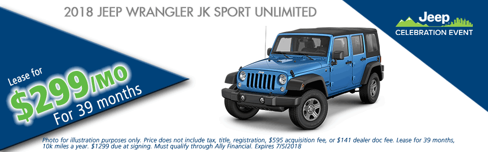 NEW 2018 JEEP WRANGLER JK UNLIMITED SPORT 4X4 carright chrysler jeep dodge ram moon township pennsylvania pittsburgh