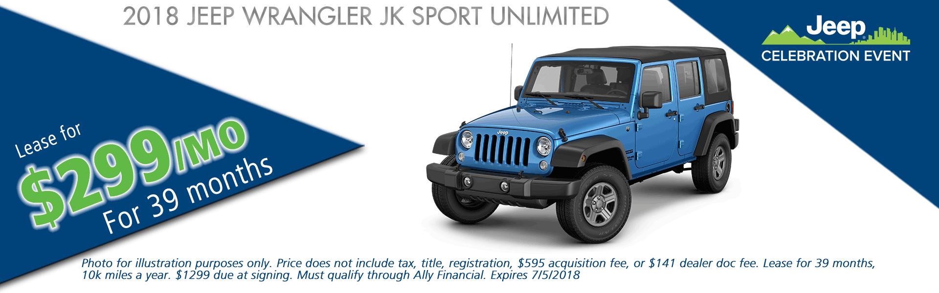 NEW 2018 JEEP WRANGLER JK UNLIMITED SPORT 4X4 carright chrysler jeep dodge ram moon township pennsylvania pittsburgh