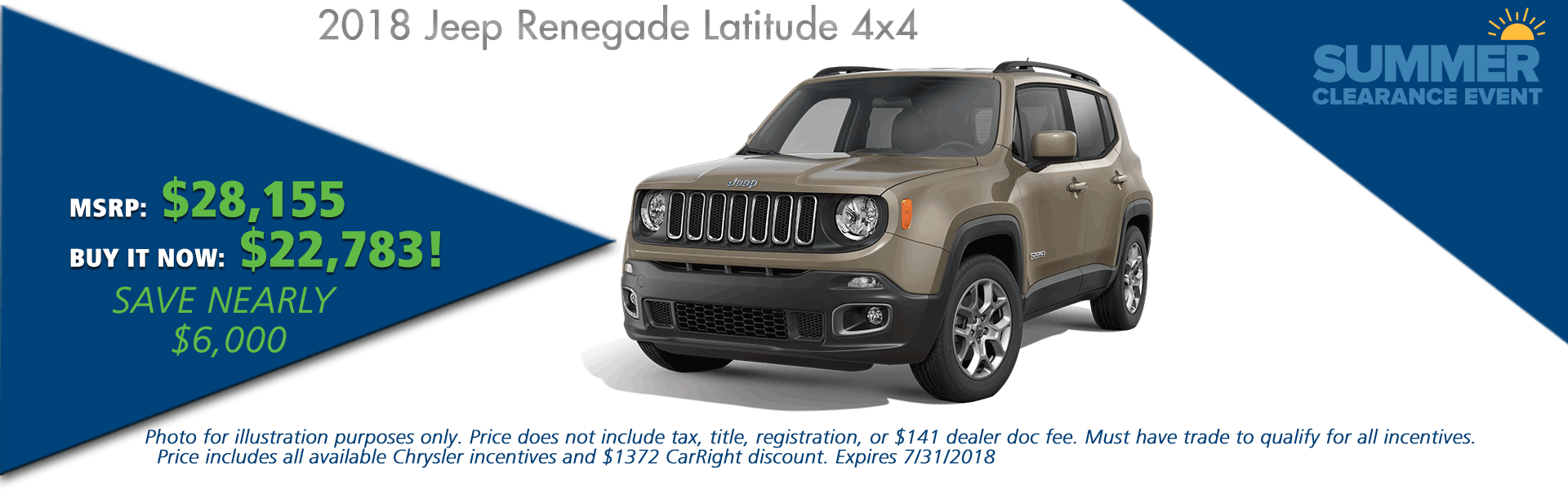 CarRight Auto Moon Township PA Chrysler Dodge Jeep Ram NEW 2018 JEEP RENEGADE LATITUDE 4X4