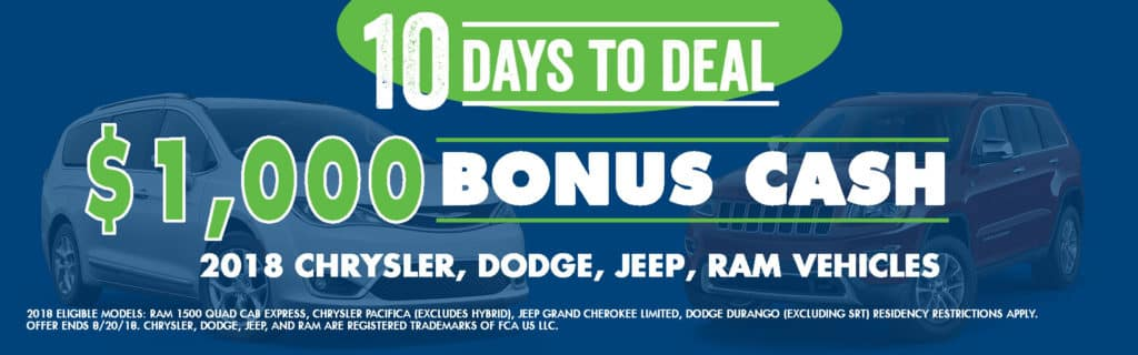 10 Day to Deal chrysler jeep dodge ram Carright Auto, Moon Twp, PA Durango Grand Cherokee Ram Pacifica