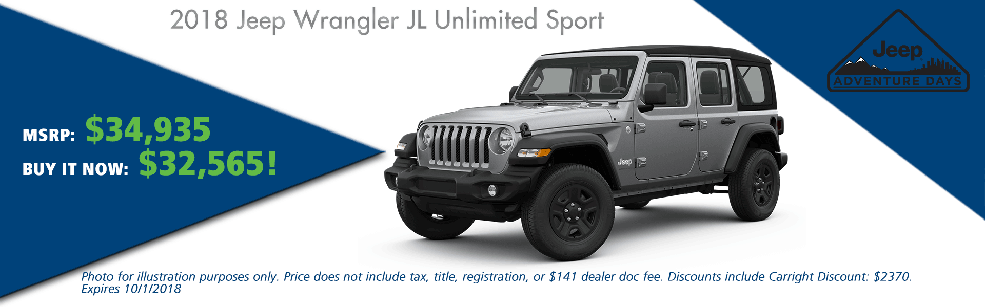 CarRight Chrysler Jeep Dodge Ram, Moon Township, PA Sales Service Body Shop Parts NEW 2018 JEEP WRANGLER UNLIMITED SPORT 4X4