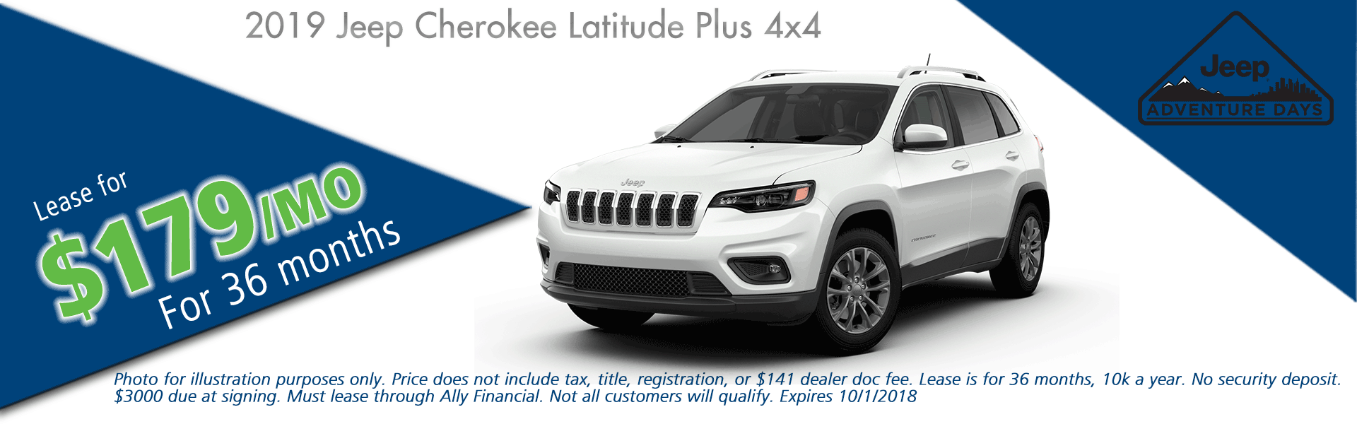 CarRight Chrysler Jeep Dodge Ram, Moon Township, PA Sales Service Body Shop Parts NEW 2019 JEEP CHEROKEE LATITUDE PLUS 4X4