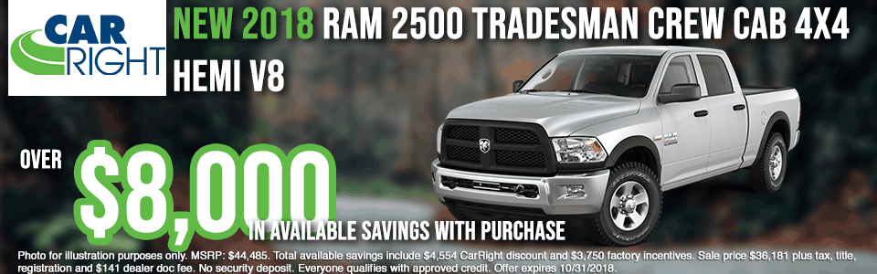 carright new vehicle specials carright specials chrysler specials dodge specials jeep specials ram specials lease specials moon township buy your car right the right way to buy a car B2812---2018-RAM-2500-TRADESMAN-CREW-CAB-4X4-OCT