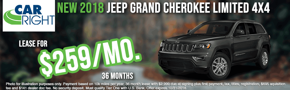 carright new vehicle specials carright specials chrysler specials dodge specials jeep specials ram specials lease specials moon township buy your car right the right way to buy a car G2304---2018-JEEP-GRAND-CHEROKEE-LIMITED-4X4--OCT