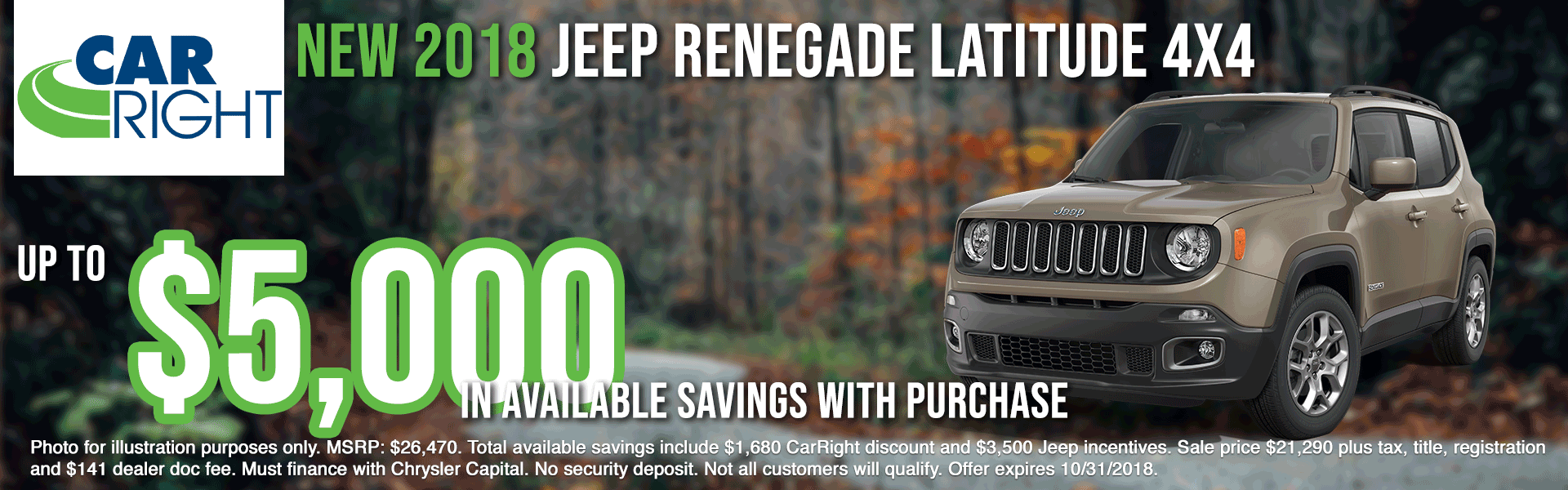 carright new vehicle specials carright specials chrysler specials dodge specials jeep specials ram specials lease specials moon township buy your car right the right way to buy a car V2833---2018-JEEP-RENEGADE-LATITUDE-4X4-OCT-BIG