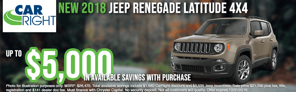carright new vehicle specials carright specials chrysler specials dodge specials jeep specials ram specials lease specials moon township buy your car right the right way to buy a car V2833---2018-JEEP-RENEGADE-LATITUDE-4X4OCT