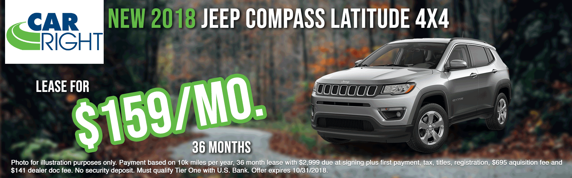 carright new vehicle specials carright specials chrysler specials dodge specials jeep specials ram specials lease specials moon township buy your car right the right way to buy a car Z2775---2018-JEEP-COMPASS-LATITUDE-4X4-OCT
