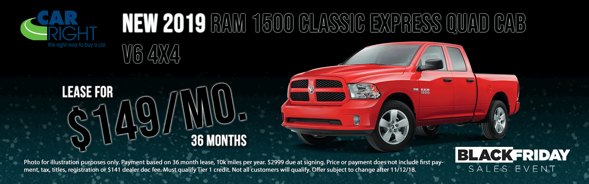 B3176---NEW-2019-V6-Ram-1500-Classic-Quad-Cab-Express carright new vehicle specials carright specials chrysler specials dodge specials jeep specials ram specials lease specials moon township buy your car right the right way to buy a car ram city sale