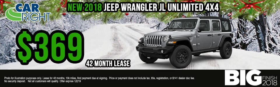 Carright Moon Township, PA. New and used vehicle sales. Service, parts, accessories NEW 2018 JEEP WRANGLER UNLIMITED SPORT 4X4