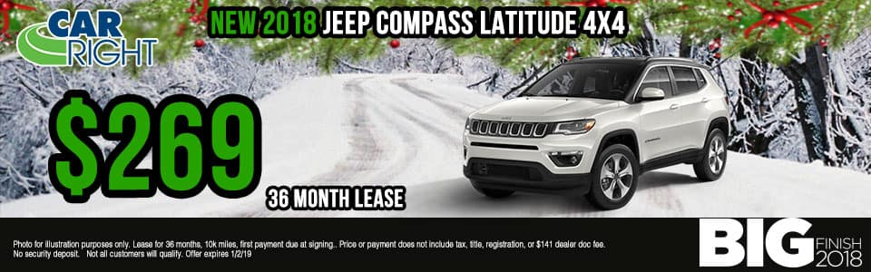 Carright Moon Township, PA. New and used vehicle sales. Service, parts, accessories NEW 2018 JEEP COMPASS LATITUDE 4X4
