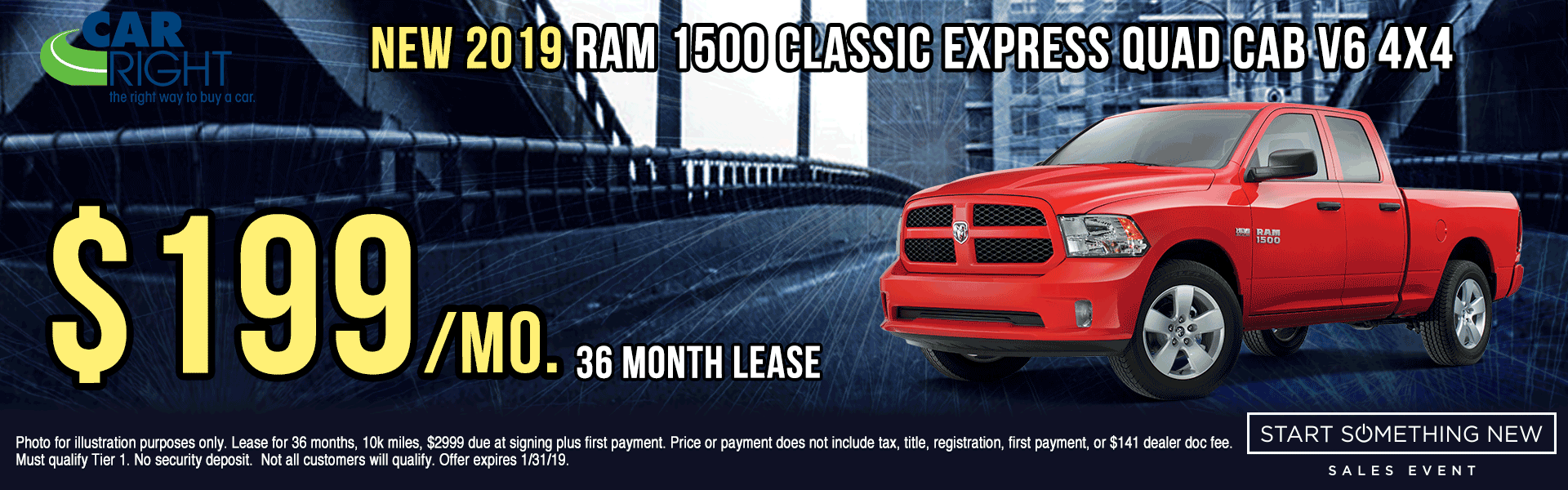 B3173---2019-RAM-1500-CLASSIC-EXPRESS-QUAD-CAB-V6 chrysler specials dodge specials jeep specials ram specials lease specials retail specials incentives shop now start something new sales event new vehicle specials carright specials