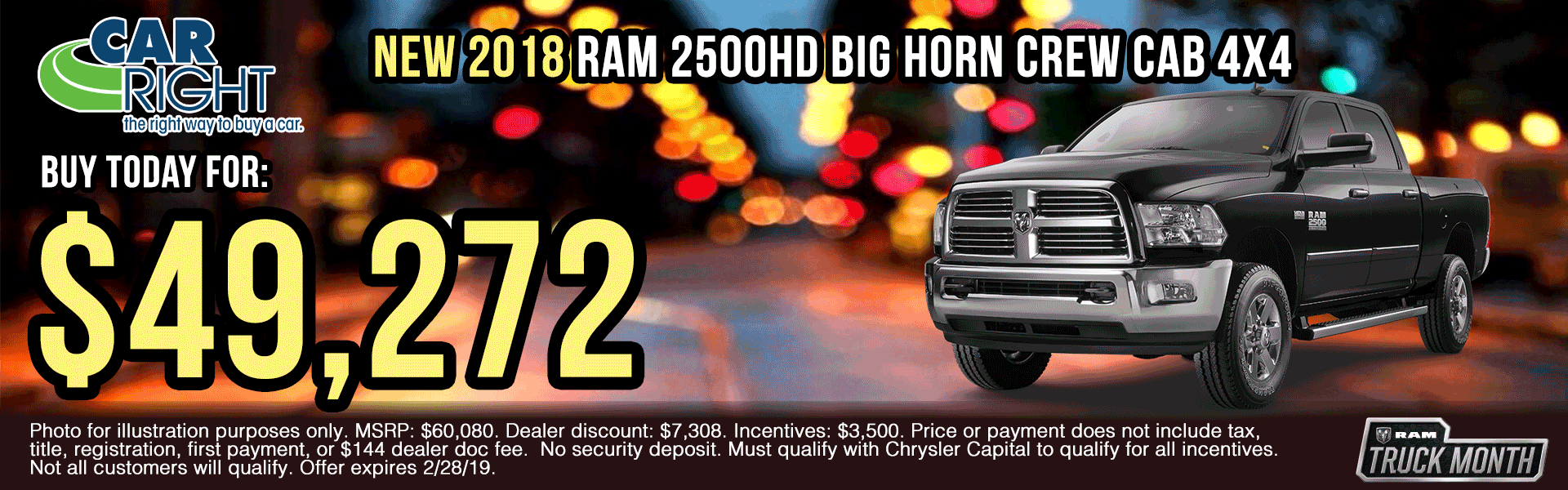 B2750-2018-ram-2500-big-horn-crew-cab-4x4 presidents day sales event Ram truck month new vehicle specials ram specials carright specials carright Chrysler dodge jeep ram moon township Chrysler specials jeep specials dodge specials truck specials lease specials