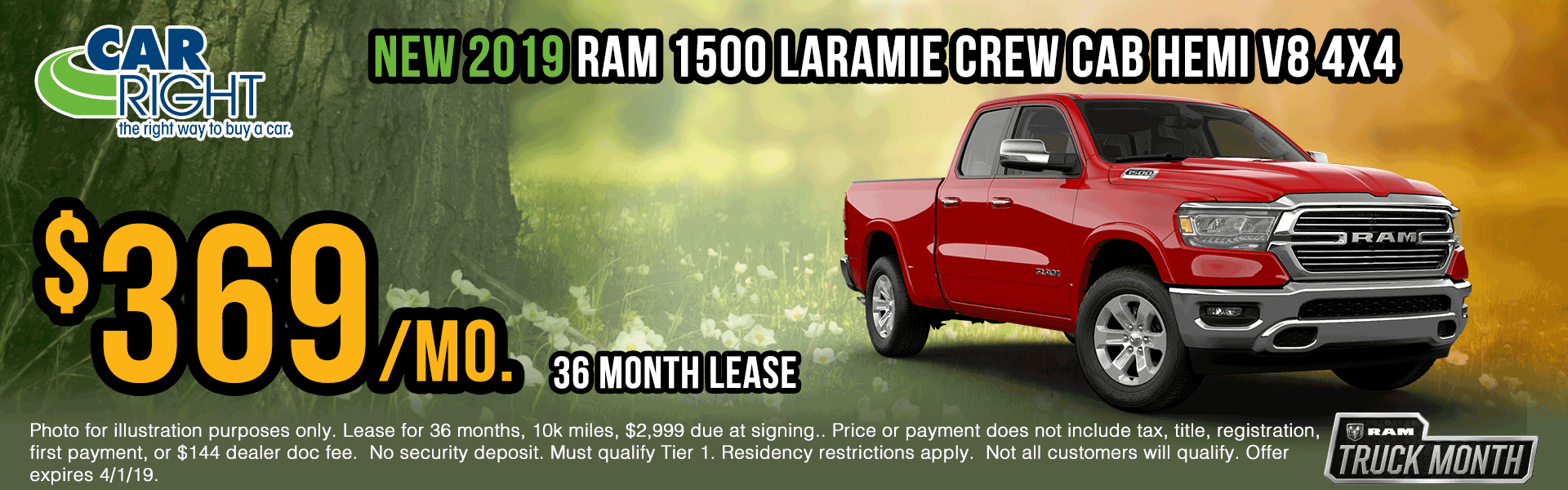 B3128-2019-ram-1500-laramie-crew-cab Spring sales event ram truck month jeep specials Chrysler specials ram specials dodge specials mopar specials new vehicle specials carright specials moon twp