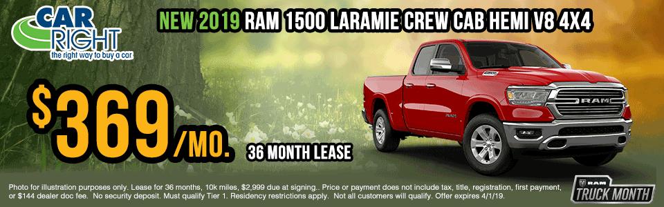 B3128-2019-ram-1500-laramie-crew-cab Spring sales event ram truck month jeep specials Chrysler specials ram specials dodge specials mopar specials new vehicle specials carright specials moon twp