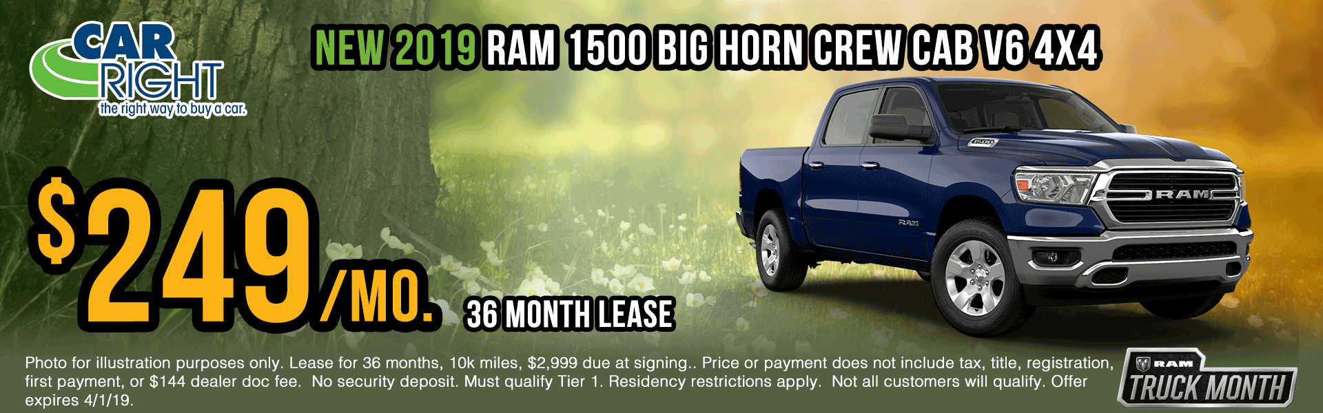 B3508-2019-ram-1500-big-horn-crew-cab-v6 Spring sales event ram truck month jeep specials Chrysler specials ram specials dodge specials mopar specials new vehicle specials carright specials moon twp
