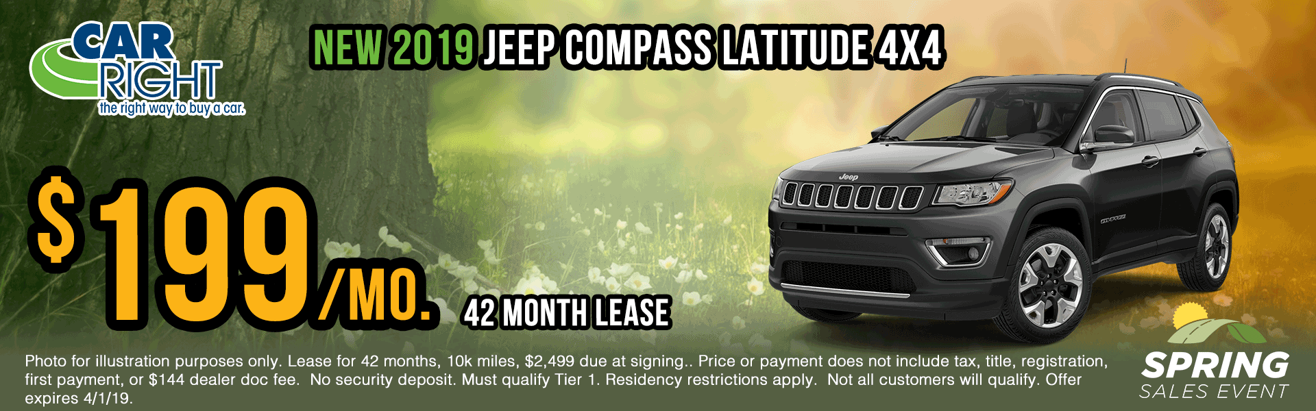 Z3394-2019-jeep-compass-latitude Spring sales event ram truck month jeep specials Chrysler specials ram specials dodge specials mopar specials new vehicle specials carright specials moon twp