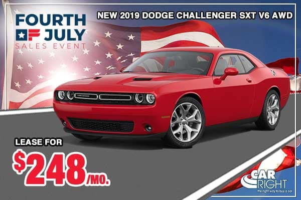 NEW 2019 DODGE CHALLENGER SXT AWD