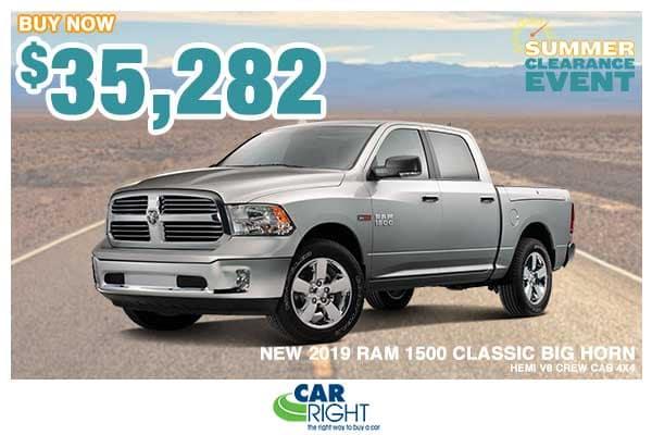 NEW 2019 RAM 1500 CLASSIC BIG HORN CREW CAB 4X4 5'7