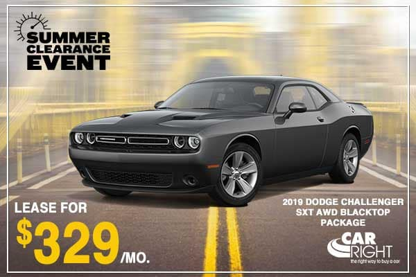 NEW 2019 DODGE CHALLENGER SXT AWD BLACKTOP PACKAGE