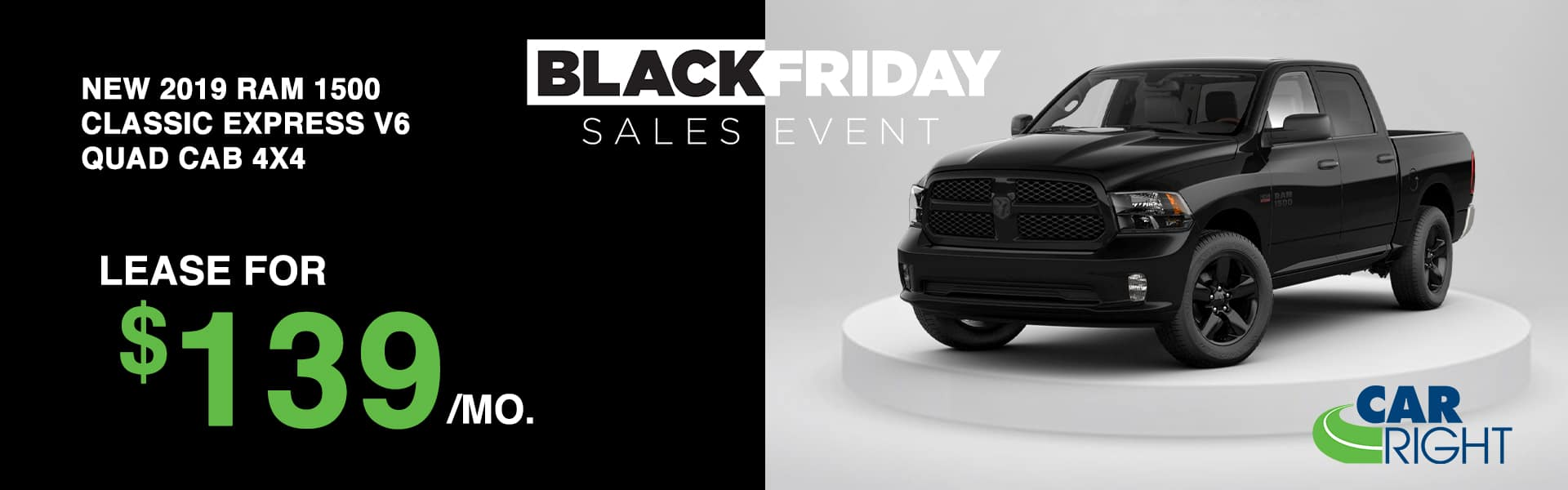 CARRIGHT-2019RAMCLASSIC Carright moon township Pittsburgh diehl auto Chrysler dodge jeep ram Black Friday sales event lease special new vehicle special sale year end savings employee pricing plus