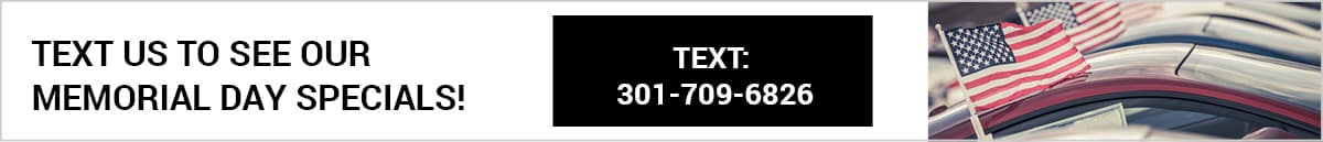 Text us for Memorial Day Specials
